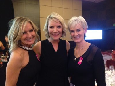 Janine Brook with Judy Murray and Jacquie Beltrao